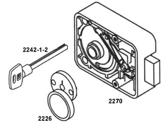 LG Key Lock Assembly 2270Key Lock