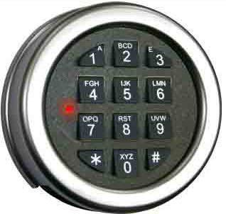 Base line Plus Key Pad Matte Chrome KBLP-12-MC