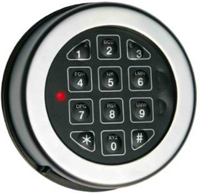 Base Line Key Pad Matte Chrome KBL-10-MC