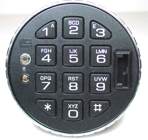 3125 Keypad Round Entry, Satin Chrome
